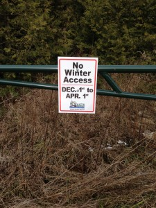 No Vehicle Winter Access