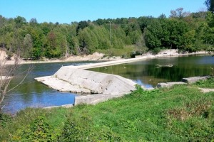 This is the current view of the Truax Dam in Walkerton. - GSS Engineering Consultants Ltd.